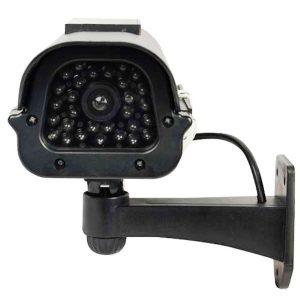 Solar Powered Black Dummy Camera