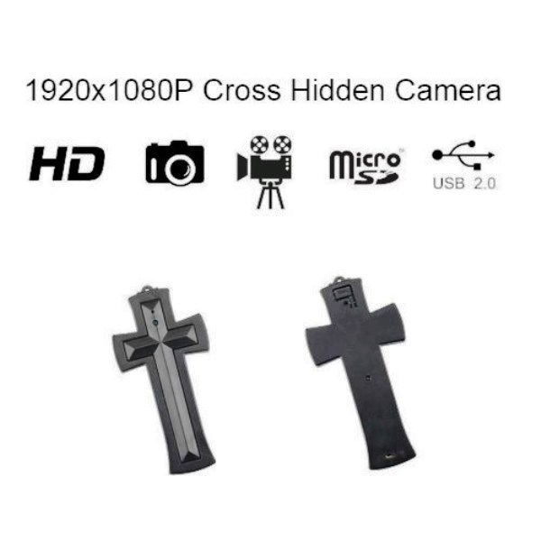 Cross Hidden Camera with built in DVR