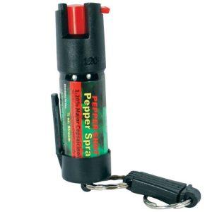 Pepper Shot® 1.2% MC ½ oz Pepper Spray Belt Clip & Quick Release Key Chain