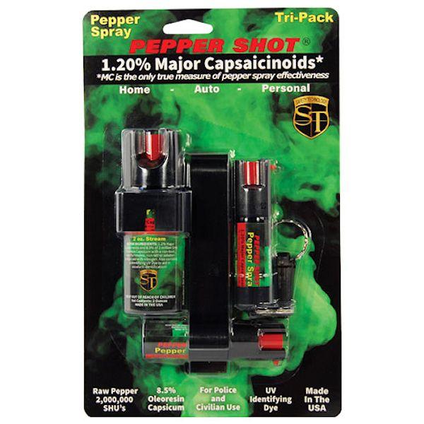 Pepper Shot® Tri-Pack Pepper Spray