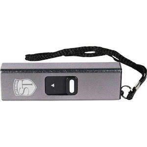 Slider Mini Silver Stun Gun USB Port