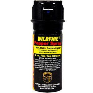 WildFire™ Pepper Spray 2 oz Flip Top Stream