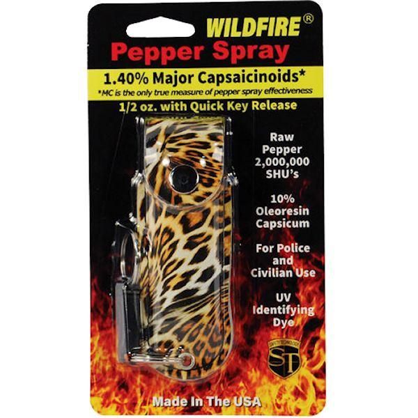 Wildfire™ ½ oz Pepper Spray Leopard Black/Orange Soft Holster