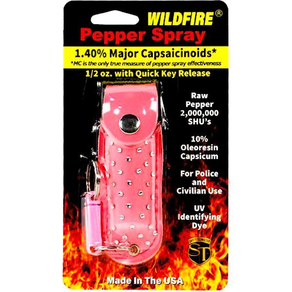 Wildfire™ Pepper Spray ½ oz Pink Rhinestone Holster