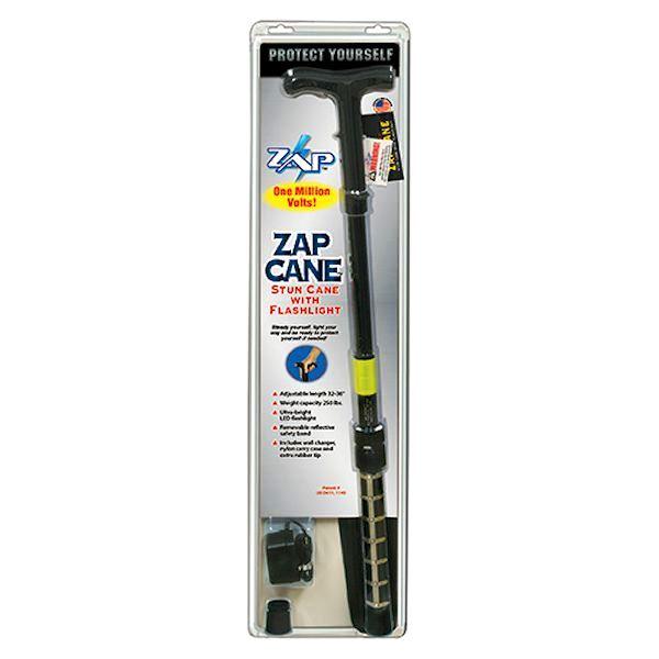 ZAP™ Stun Walking Cane 1 Million Volts with Flashlight
